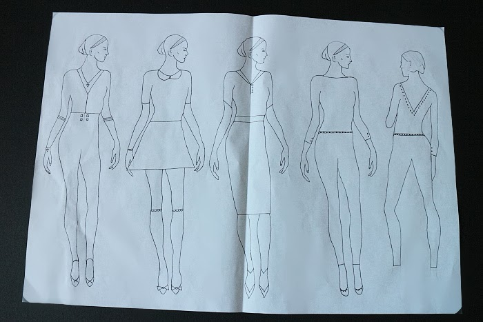 fashion design concepts and communication, drawings, robert gordon university