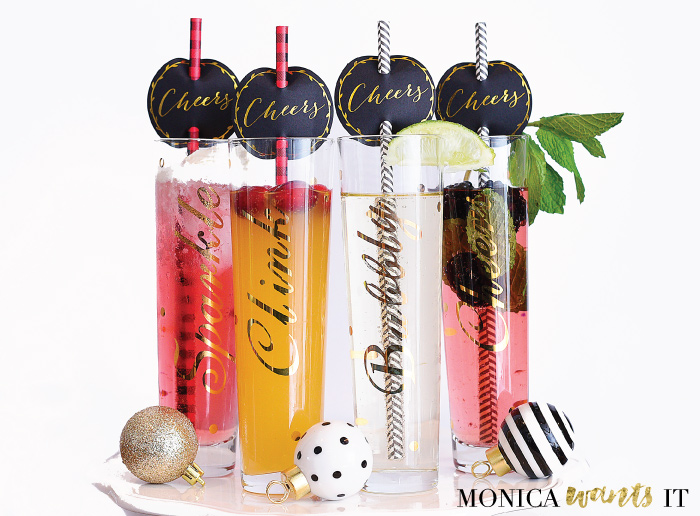 These four beautiful mocktails/cocktails were made using a SodaStream Power machine. What a great way to use a sparkling water maker.