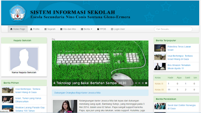 Sistem Informasi Akademik Sekolah with Bootstrap