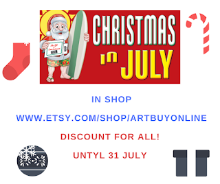 CHRISTMAS IN JULY http://www.etsy.com/shop/ArtBuyOnline