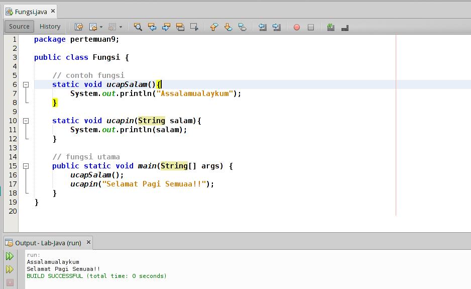 Contoh Fungsi pada Java