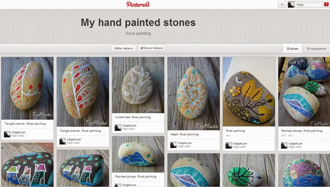 Tejemundos pintar piedras o stone painting for Donde conseguir piedras para pintar