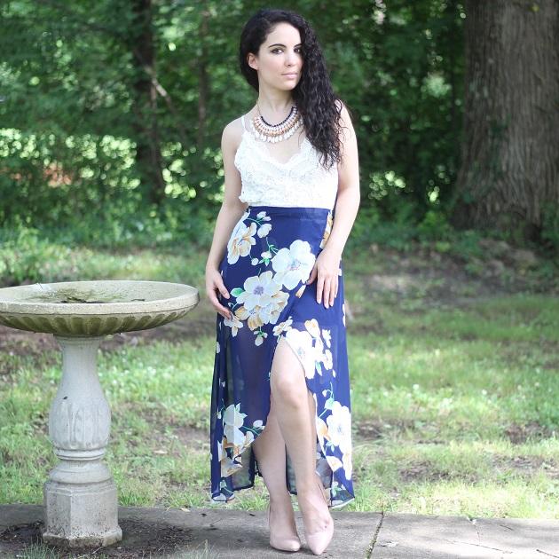 White Lace Bust Dress