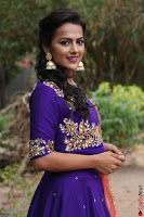 Actress Shraddha Srinath in Purple Chania Choli Cute Pics ~  Exclusive 51.jpg
