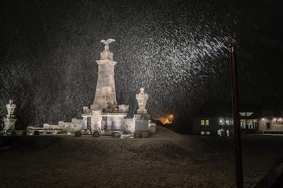 havazás márciusban, Székelyföld, Madéfalva, időjárás, madéfalvi veszedelem emlékműve
