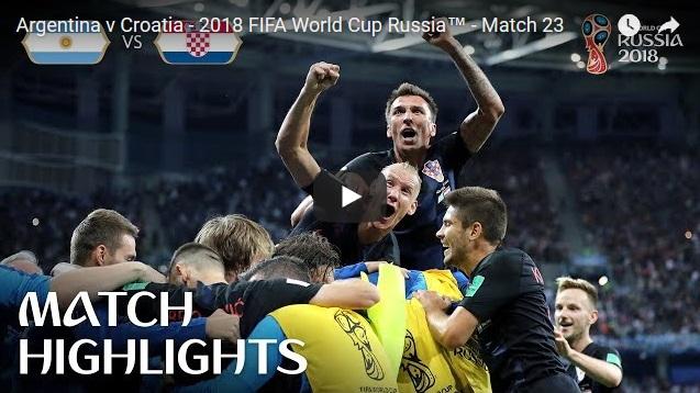 Goleada de Croacia a Argentina por 3 a 0