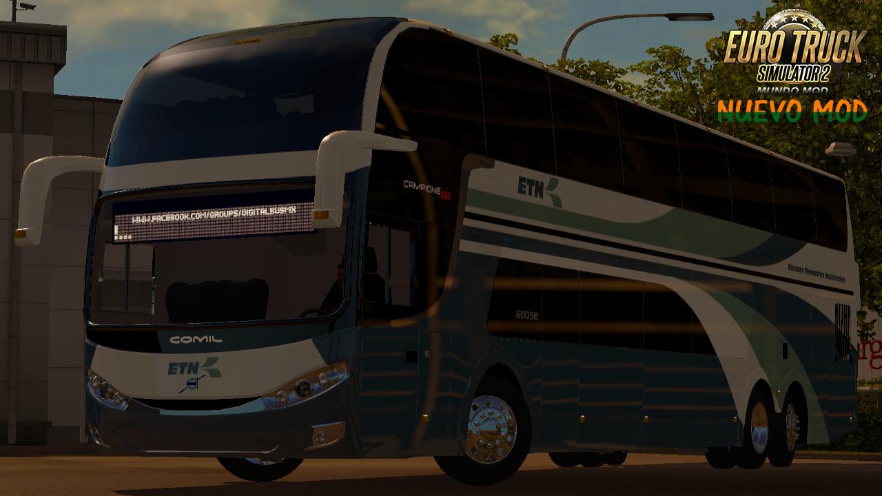 Bus Mod) Volvo Comil Campione DD - ETS 2 Mundo Mod