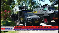 Video : Brimob Gunakan Kendaraan Taktis Membuka Blokade Jalan Trans Sulawesi