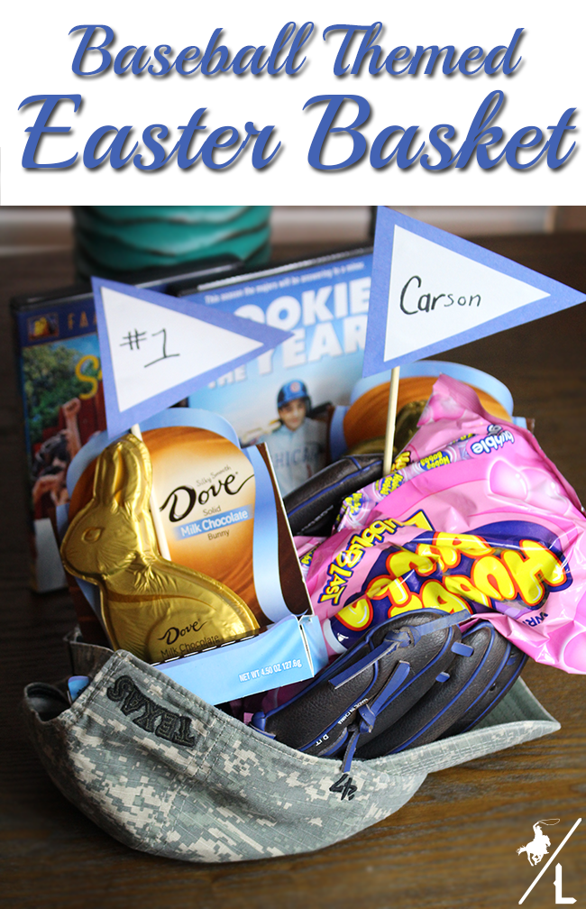 A cowboys life baseball themed easter basket what easter basket ideas will you be making for your family what do you include in your baskets you can find more ideas and inspiration here negle Image collections
