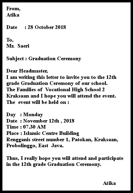Invitation Card And Letter