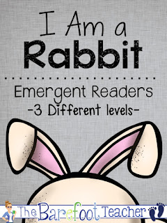 These non-fiction, differentiated readers will go right along with the other activities, crafts, and ideas you have planned for your class this spring. They are perfect for Easter too! Help your Kindergarten or First Grade students develop confidence in their reading abilities while learning about rabbits at the same time. In addition, the last page of each reader incorporates writing practice as students recall facts that they learned in the reader. Try one out for FREE!