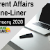 Current Affairs One-Liner: 16th January 2020