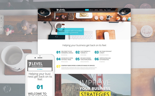 Best Modern Business Company Website theme