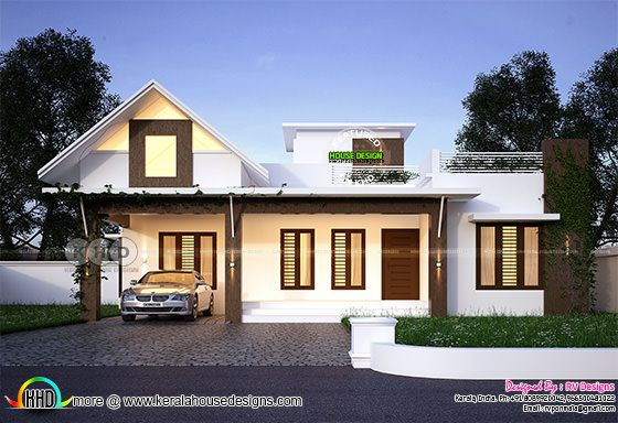 1090 square feet 2 bedroom mixed roof home
