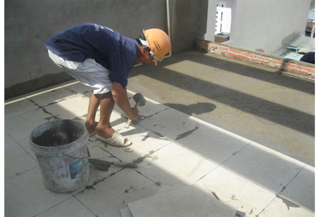 Giá nâng nền, Đục gạch nền, Cán nền, Lót gạch nền