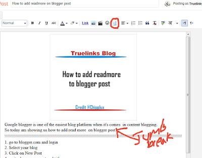 How to add readmore on blogger post