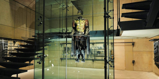 Batman v Superman Robin's burnt outfit in the Batcave