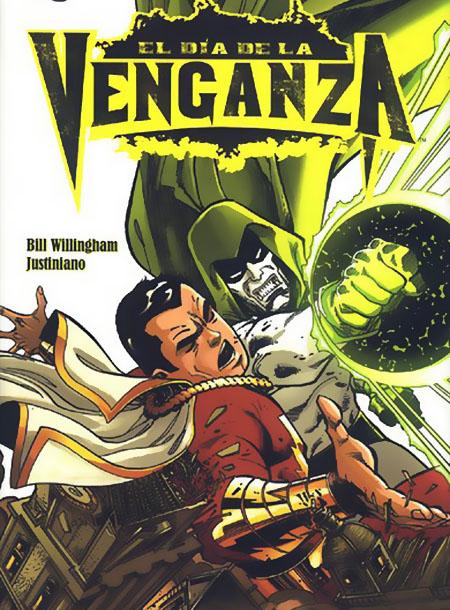 Capitán Marvel lucha contra el Espectro