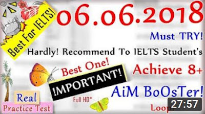 IELTS LISTENING PRACTICE TEST 2018 WITH ANSWERS | 06.06.2018