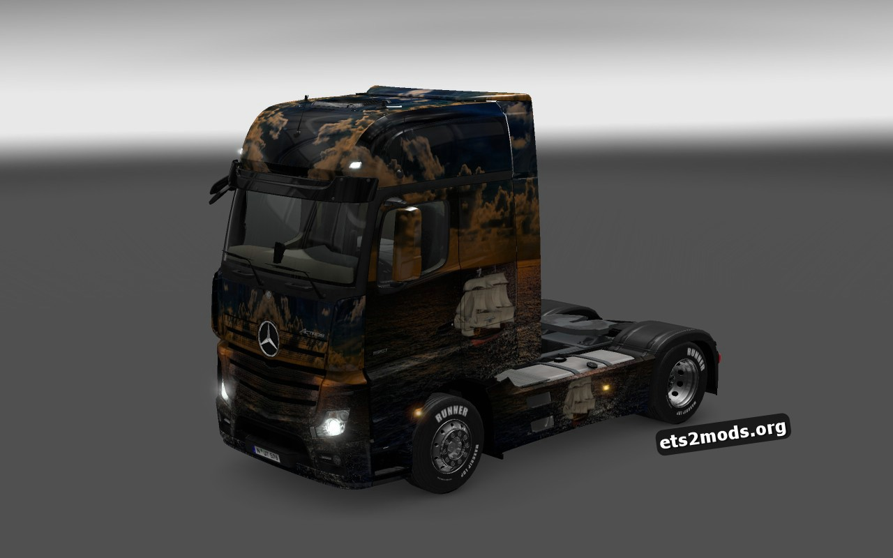 Ship Skin for Mercedes Actros MP4