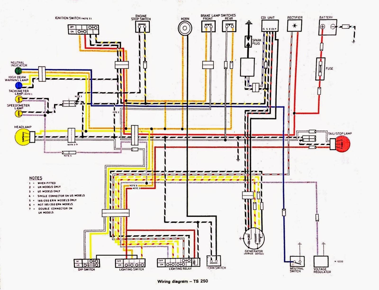 wiring harness for suzuki 250