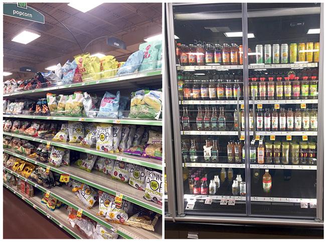 Kroger store, snack aisle, Honest Tea, Simple Truth