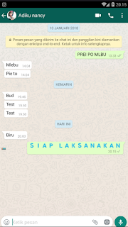 Mengubah teks chatting whatsapp menjadi warna biru √  Cara Membuat Teks di Whatsapp Menjadi Warna Biru Pada Android