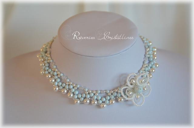 collier de mariée romantique et glamour