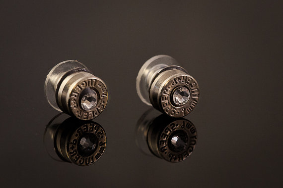Bullet Castings Stud Earrings By Blingiton Bulletdsign