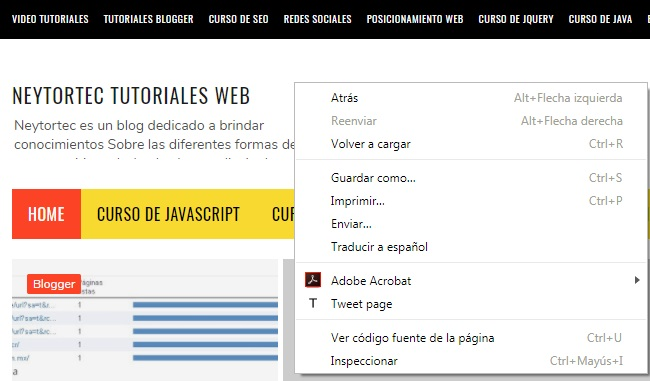 inspeccionador HTML