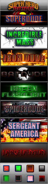 Super Hero Text Styles