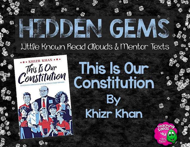 This Is Our Constitution by Khazir Khan is a Hidden Gem for civics instruction. This book breaks down the history of the U.S. Constitution, as well as each Article and Amendment. Read the post to find out more on using the book to teach civics.