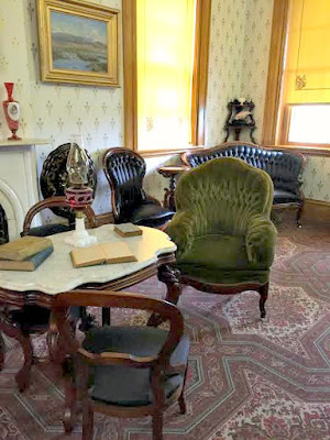 Grant's favorite green armchair in his Galena, IL home.