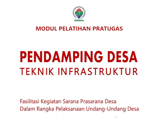 Modul pratugas pendamping desa teknik infrastruktur 2017