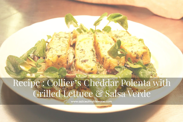 Stephen Terry's Recipe for Collier's Cheddar Cheese Polenta with Grilled Lettuce & Salsa Verde