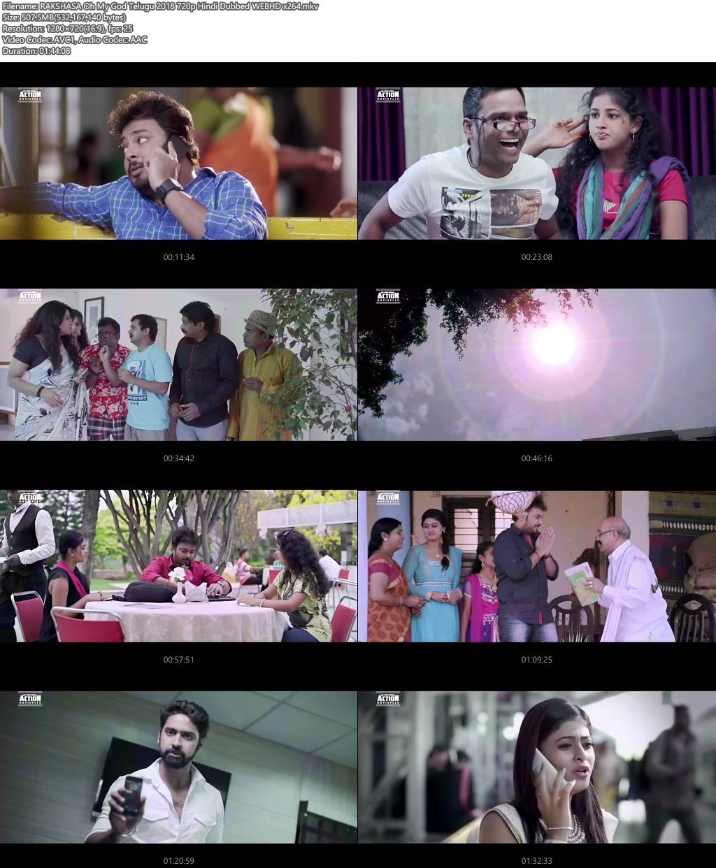 RAKSHASA Oh My God Telugu 2018 720p Hindi Dubbed WEBHD | 480p 300MB | 100MB HEVC Screenshot