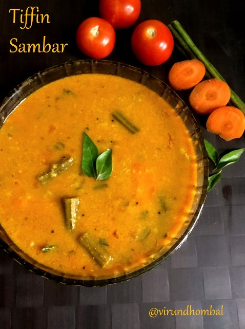 Tiffin Sambar | Sambar for Idly and Dosa recipe - How to prepare Tiffin Sambar | Sambar for Idly and Dosa with step by step instructions | Idly and Dosa side dishes | Tifiin Sambar