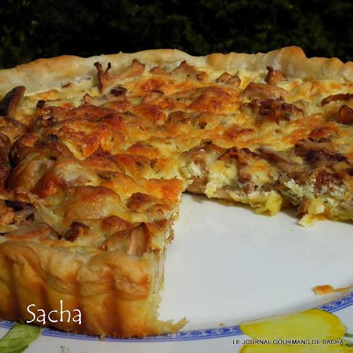 Le journal gourmand de sacha tarte chaude aux girolles - Cuisiner les champignons pieds de mouton ...
