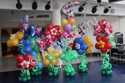 Оформление воздушными шарами детского день рождения