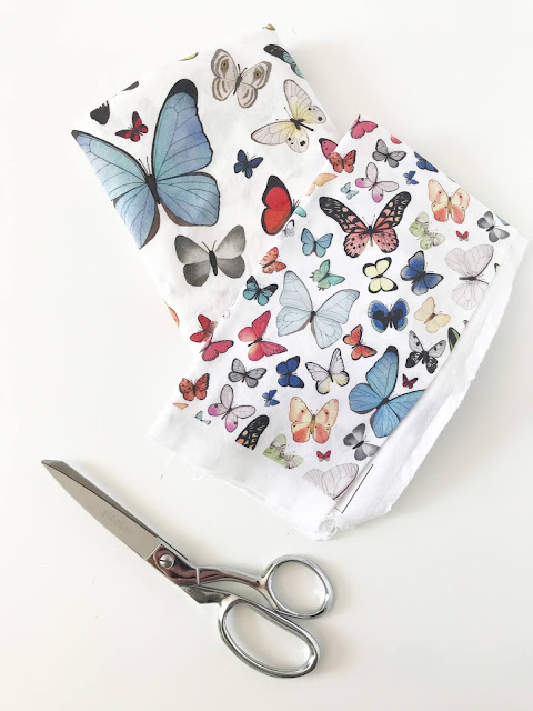 spoonflower, fabric design, watercolor butterflies, Anne Butera, My Giant Strawberry