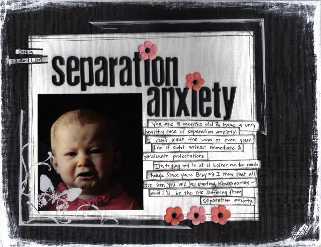 Scrapbooking Layout: Separation Anxiety