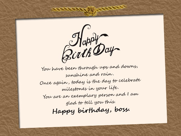 Techoxe 135 Birthday Wishes For Boss Best Quotes