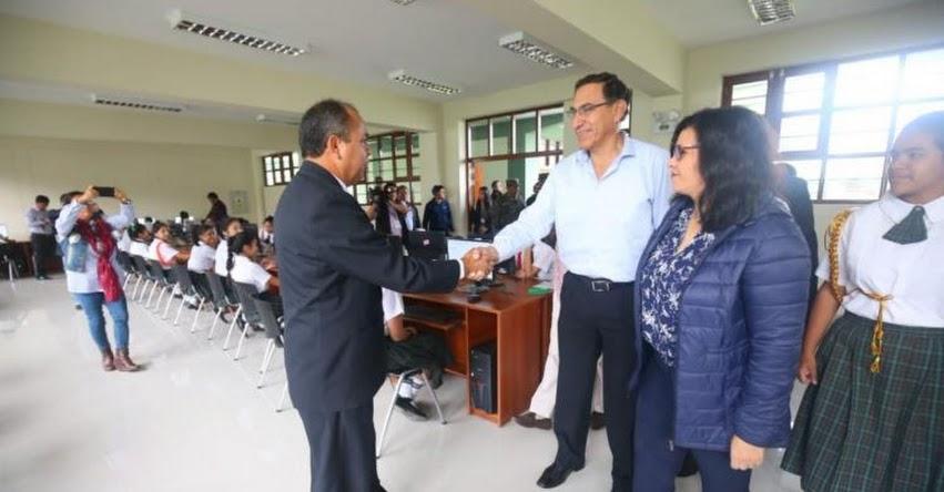 Presidente Martín Vizcarra supervisa entrega de obras de colegio en Chiclayo
