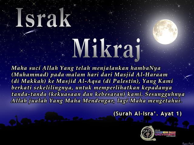 Mengikut Kalendar Islam  Israk Mikraj Akan Jatuh Pada Hari Khamis  Bersamaan Dengan H