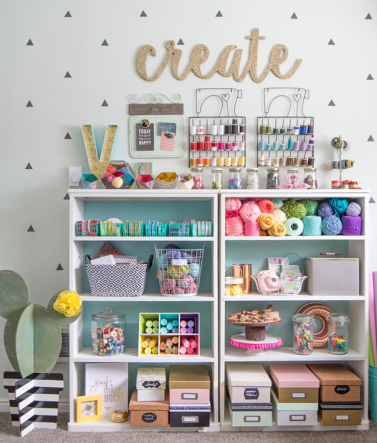 Colorful Craft Room Tour