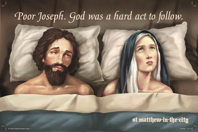 Funny Poor Joseph Mary Joke Picture - Poor Joseph.  God was a hard act to follow