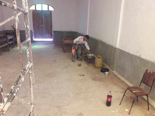 Ich arbeite mit eigenem Personal aus unserem Dorf