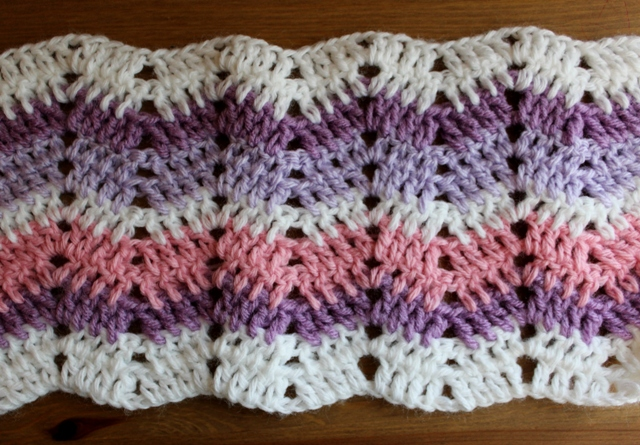Bluebell Crafts Easy Ripple Crochet Stitch