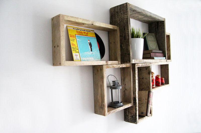 estanteras muy originales que podis construir con palets y madera recuperada son geniales si os han gustado estas estanteras hechas con palets por