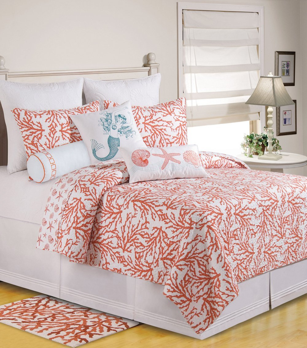 coral color bedroom coral colored comforter and bedding sets 11265
